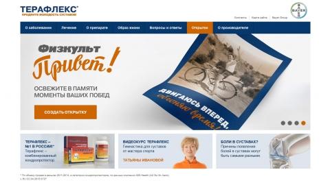 Создание и поддержка официального сайта препарата Терафлекс компании Bayer