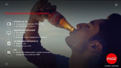 Разработка промо-сайтов для компании Coca-Cola HBC Россия
