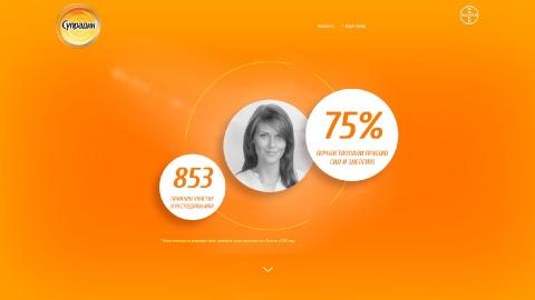 Разработка промо-сайта препарата Супрадин для компании Bayer