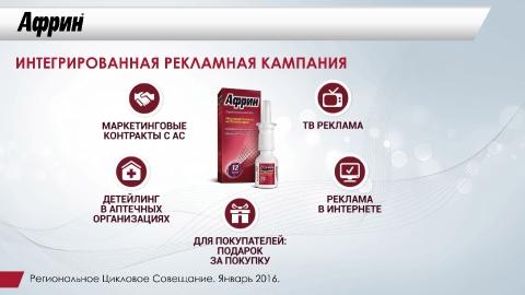 Дизайн презентации препарата «Африн» для компании Байер