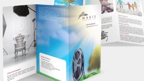 Дизайн буклетов компании Maris