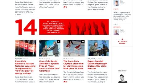 Разработка корпоративного портала «Insider» для компании Coca-Cola на базе платформы Microsoft Sharepoint